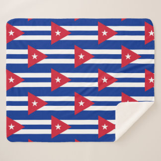 Patriotic Sherpa Blanket with Cuba flag