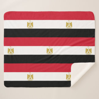 Patriotic Sherpa Blanket with Egypt flag