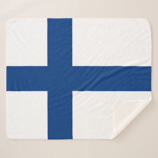 Patriotic Sherpa Blanket with Finland flag