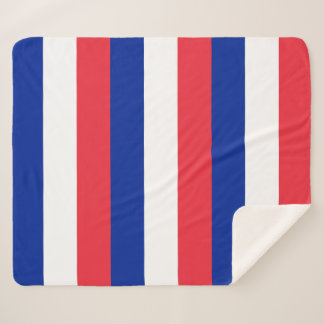 Patriotic Sherpa Blanket with France flag