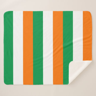 Patriotic Sherpa Blanket with Ireland flag