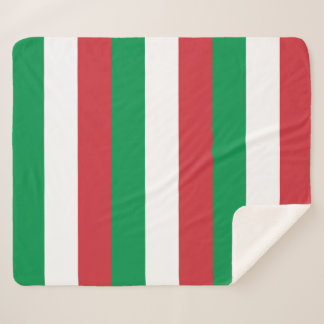 Patriotic Sherpa Blanket with Italy flag