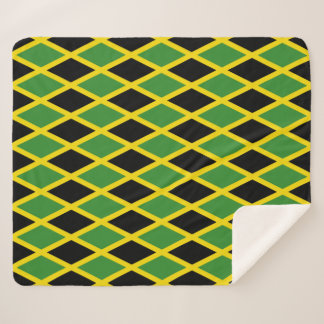 Patriotic Sherpa Blanket with Jamaica flag