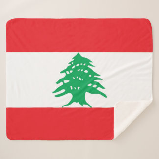 Patriotic Sherpa Blanket with Lebanon flag