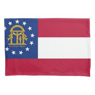 Patriotic Single Pillowcase flag of Georgia