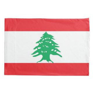 Patriotic Single Pillowcase flag of Lebanon