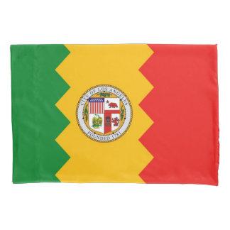 Patriotic Single Pillowcase flag of Los Angeles
