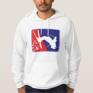 Patriotic Skier Hoodie
