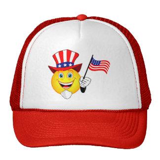 Patriotic Smiley Cap