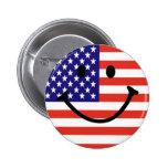 Patriotic Smiley Face Button