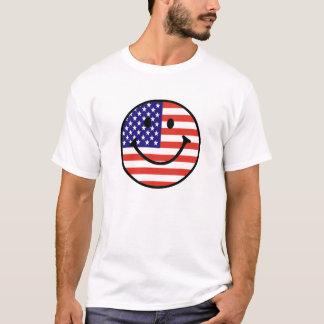 Patriotic Smiley Face T-Shirt
