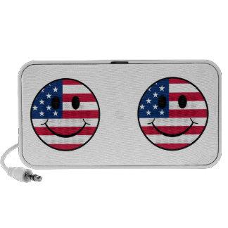 Patriotic Smiley iPhone Speaker