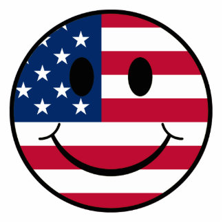 Patriotic Smiley Photo Sculpture Decoration