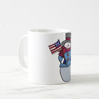 Patriotic Snowman Mug