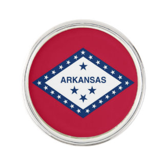 Patriotic, special lapel pin with Flag of Arkansas