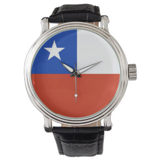 Patriotic, special watch with Flag of Chile