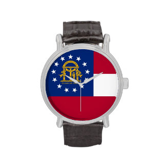 Patriotic, special watch with Flag of Georgia