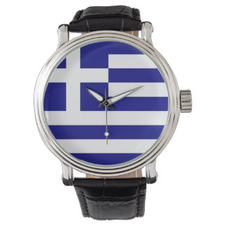 Patriotic, special watch with Flag of Greece