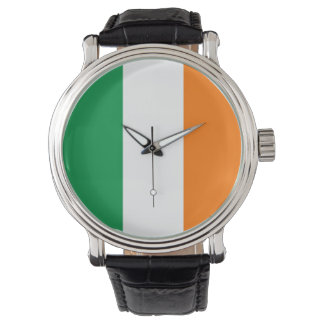 Patriotic, special watch with Flag of Ireland