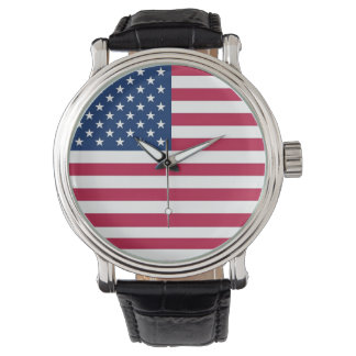 Patriotic, special watch with Flag of USA