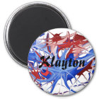 "Patriotic Splatter ""Name"" Design Magnet"