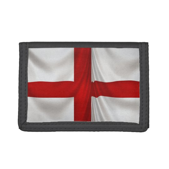 Patriotic St George Cross England Flag Tri-fold Wallet