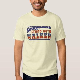 Patriotic  Stand With Scott Walker Tee Shirt