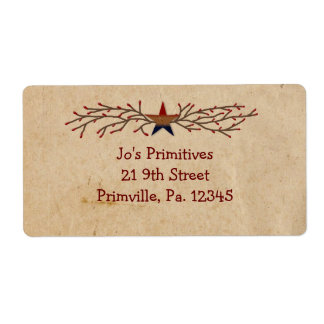 Patriotic Star Business Label Shipping Label