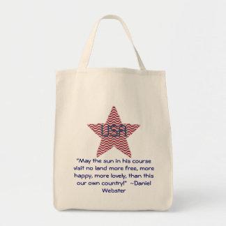 Patriotic Star, Daniel Webster Quote Bag