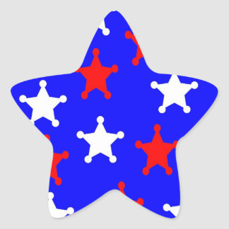 Patriotic Star Envelope Seal Star Sticker