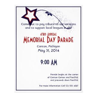 Patriotic Star Light Memorial Day Flyers