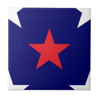 Patriotic Star Pattern Tiles