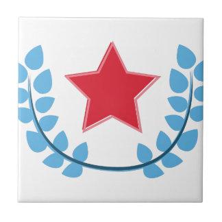 Patriotic Star Small Square Tile