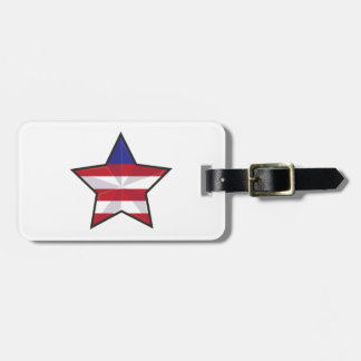Patriotic Star Tags For Luggage