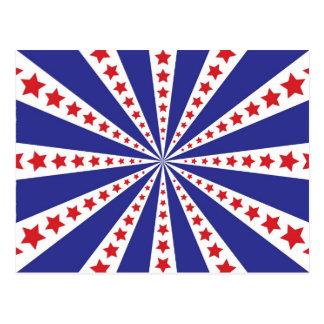 Patriotic Starburst Postcard