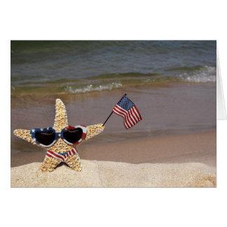 Patriotic Starfish Note Card