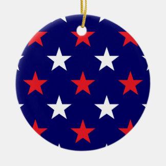 Patriotic Stars 1 Christmas Ornament