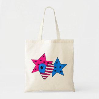 Patriotic Stars and Heart Bag
