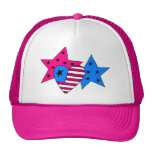 Patriotic Stars and Heart Hat