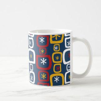 Patriotic Stars and Squares Coffee Mugs