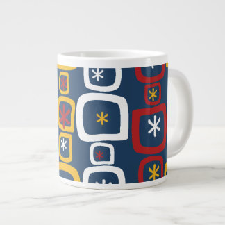 Patriotic Stars and Squares Extra Large Mug