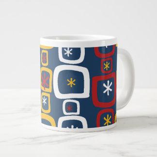 Patriotic Stars and Squares Giant Coffee Mug