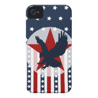 Patriotic Stars and Stripes Bald Eagle American iPhone 4 Cases