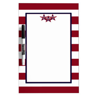 PATRIOTIC STARS AND STRIPES DRY ERASE BOARD