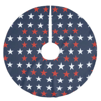Patriotic Stars Design Tree Skirt