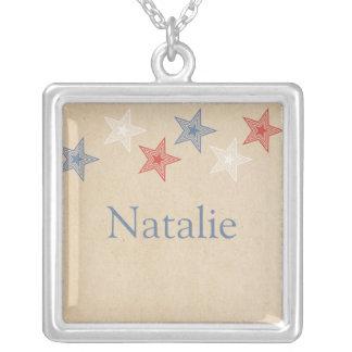 Patriotic Stars Necklace