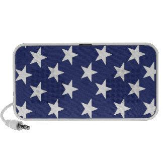 Patriotic stars notebook speakers