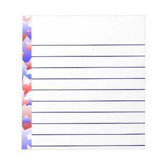 Patriotic Stars Notepad