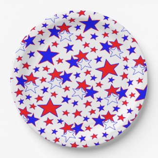 Patriotic Stars Paper Plate