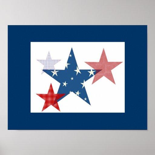 Patriotic Stars Poster